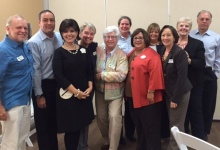 Board members  joined by staff members David Crump, Sr. Ann and Disney team, Betty Lowery and Nancy Gidusko.